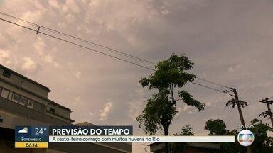 Previsão de céu nublado no Rio de Janeiro nesta sexta-feira (13) - Confira a previsão do tempo para todo o estado.