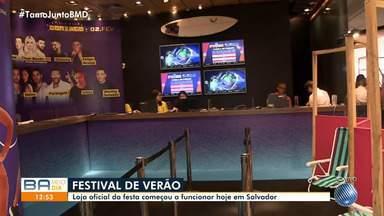 Loja oficial do Festival de Verão começa a funcionar a partir desta sexta-feira - Evento acontece nos dias 1º e 2 de fevereiro, na Arena Fonte Nova.