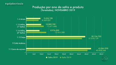 IBGE divulga levantamento da produção agrícola no RS em 2019 - Confira os resultados da pesquisa.