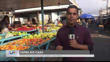 Fartura de cajus na Feira de Campina Grande - A fruta é importada de vários estados do Nordeste.