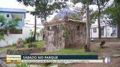 As artes tomam conta do Parque do Itajuru, em Cabo Frio, no RJ - Moradores e visitantes apreciam programações que acontecem no Parque.