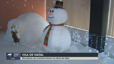 Associação Comercial de Conchal tem Vila de Natal - Os moradores da cidade podem conhecer o Papai Noel e entrar no clima natalino.