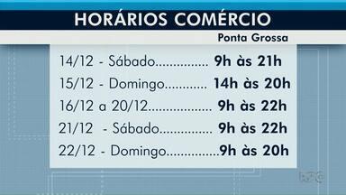 Lojas de Ponta Grossa abrem até as 21h neste sábado (21) - No domingo, comércio de rua funciona das 14h às 20h.