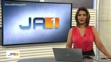 Veja os destaques do Jornal Anhanguera 1ª Edição de sábado (14) - Chuva causa série de estragos em vários pontos de Goiânia.