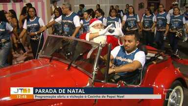 'Parada' abre a programação natalina na Orla de Santarém - Visitas a casa do papai noel podem ser feitas até o dia 29 de dezembro; confira a programação completa.