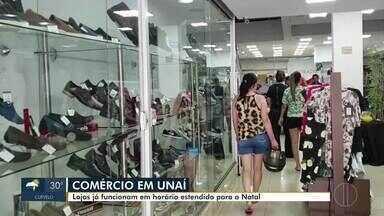 Comércio em Unaí funciona em horário estendido no Natal - Para atender todos os clientes, lojas começam a funcionar até mais tarde.