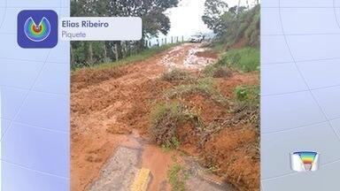 Temporal deixa um morto em Piquete - Com a chuva a prefeitura interditou 4 casas e 9 pessoas estão em casas de parentes.