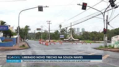 Rotatória na Souza Naves tem o tráfego liberado em Londrina - Motoristas precisam prestar atenção com a preferencial