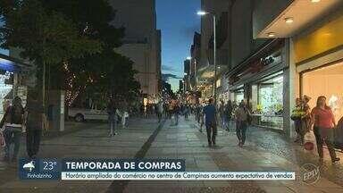 Horário ampliado no comércio do Centro de Campinas aumenta expectativa de vendas - Comerciantes projetam aumento de 7% nas vendas com relação ao ano passado.