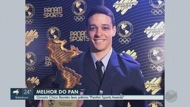 """Ginasta de Ribeirão Preto leva prêmio """"Panam Sports Awards"""" - Chico Barreto foi eleito o melhor atleta dos jogos pan-americanos, disputados em Lima, no Peru, este ano."""