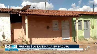 Mulher foi assassinada a pauladas em Pacujá - Saiba mais no g1.com.br/ce