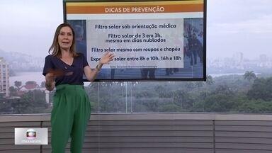 Saiba como se prevenir do câncer de pele - De acordo com a dermatologia Katleen Conceição, filtro solar é impescindível mesmo em dias que não estejam ensolarados.