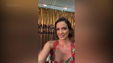Luciana Cardoso nos bastidores do Troféu Domingão - Melhores do Ano 2019 - Luciana Cardoso