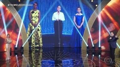 Faustão conversa com Maria Julia Coutinho, Renata Vasconcellos e Sandra Annemberg - As três são indicadas ao troféu na categoria jornalismo