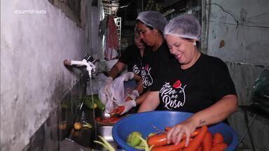 """Menilson Filho conheceo projeto """"Tem Sopa No Rosa"""" - Apresentador se junta a voluntários e participa de ação solidária no Rosa Elze"""