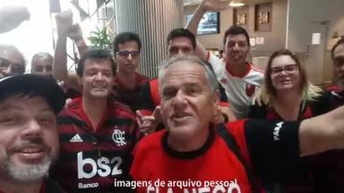 Presidente de organizada do Fla na Paraíba vai a Doha e vive expectativa para o Mundial - Rogeraldo Campina viajou para o Catar para acompanhar in loco a participação do Flamengo no Mundial de Clubes