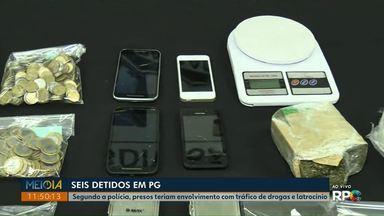 Operação contra o tráfico de drogas prende seis pessoas em Ponta Grossa - Eles também são suspeitos de latrocínio - que é o roubo seguido de morte.