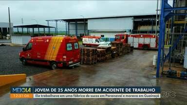 Morador de Guairaçá morre em empresa de Paranavaí - Acidente foi no começo da manhã desta terça-feira (17).