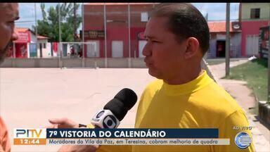 Moradores da Vila da Paz reivindicam reforma da quadra de esportes do bairro - Moradores da Vila da Paz reivindicam reforma da quadra de esportes do bairro
