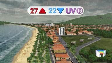 Confira previsão do tempo para esta quarta-feira - Deve voltar a chover na região.