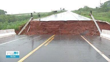 Ponte cai em Nova Andradina - Em Mato Grosso do Sul.