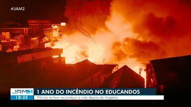 Um após após incêndio no Educandos em Manaus, famílias ainda relatam traumas - Incêndio, ocorrido no dia 17 de dezembro de 2018 - uma semana antes do Natal, foi considerado um dos maiores da história de Manaus.