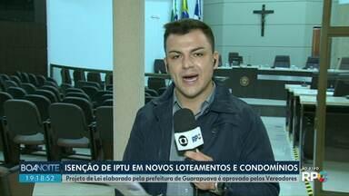 Câmara aprova isenção de IPTU em novos loteamentos - Projeto de Lei elaborado pela prefeitura de Guarapuava é aprovado pelos Vereadores