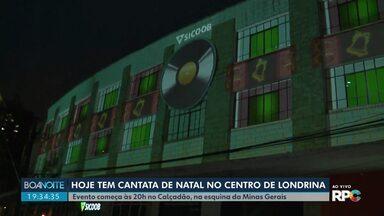 Cantata de natal movimenta o centro de Londrina - Atração no calçadão na esquina da rua Minas Gerais vai até a próxima quinta (19) sempre às 20h