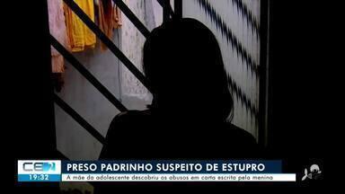 Polícia prende padrinho suspeito de estuprar afilhada em Ubajara - Confira mais notícias em g1.globo.com/ce