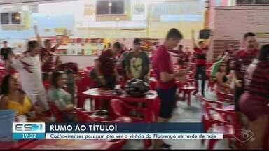 Cachoeirenses param para ver a vitória do Flamengo em jogo do Mundial, no ES - Flamengo ganhou por 3 x 1.