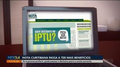 Nota Curitibana passa a ter mais benefícios - Vai ser possível sacar o dinheiro ou então trocar por passagens de ônibus, táxi e aluguel de patinetes e bicicletas