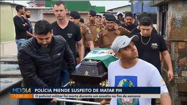 Polícia prende suspeito de matar policial militar - O policial foi morto durante um assalto a uma loja de Piraquara. O outro bandido também foi baleado, mas não chegou a morrer