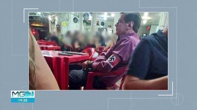 Homem flagrado com suástica é indiciado por discriminação racial - Imagens de redes sociais mostram ele usando suástica em um bar em Unaí.
