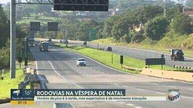 Expectativa é de tranquilidade nas rodovias da região durante véspera de Natal - Horário de pico deve ser registrado no final da tarde desta terça-feira (24).