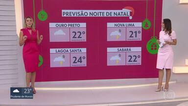 Meteorologia prevê chuva em Belo Horizonte durante o Natal - Defesa Civil emitiu alerta de pancadas acompanhadas com raios e ventania.