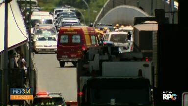 Siate atende acidente entre duas motos na Ponte da Amizade - Meio-Dia Paraná acompanhou ao vivo o acidente.