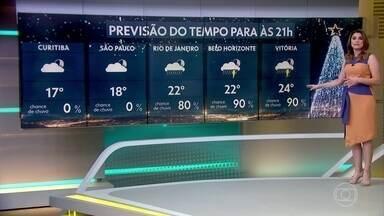 Veja como fica o tempo na noite de Natal em 10 capitais brasileiras - E confira a previsão completa, para todo o Brasil, na tarde de hoje.