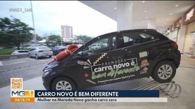 Rádio Cultura e Pátio Sabiá sorteiam carro em Uberlândia - Ganhadora do Bairro Morada Nova participou de promoção.