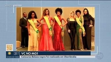 Veja quem é a vencedora do Concurso Beleza Negra 2019 em Uberlândia - No último domingo (22), foi realizada a quarta edição do evento na cidade, que tem o objetivo de promover a mulher negra valorizando a cultura e combatendo o preconceito. Ao todo, foram 50 inscritas. A vencedora levou o prêmio de R$ 1.400.
