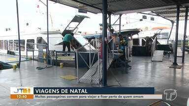 Saiba como foi a movimentação para quem vai viajar para passar o natal em outra cidade - Portos ficaram lotados de passageiros que embarcavam a todo instante nesta terça-feira (24).