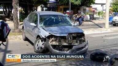 Acidentes na Silas Monguba complicam o trânsito - Saiba mais no g1.com.br/ce