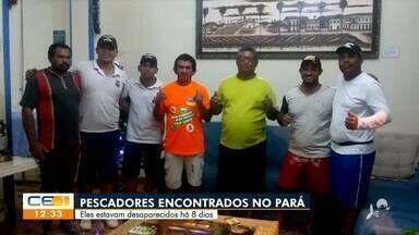 Pescadores desaparecidos há 8 dias são encontrados no Pará - Saiba mais no g1.com.br/ce