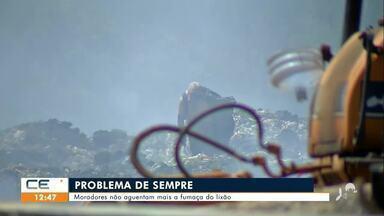 Moradores não aguentam mais a poeira do lixão de Juazeiro do Norte - Saiba mais no g1.com.br/ce