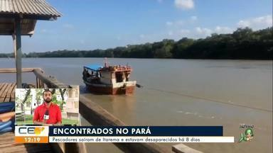 Pescadores desaparecidos são encontrados no Pará - Saiba mais no g1.com.br/ce