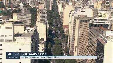 IPTU aumenta quase 4% em Belo Horizonte - O reajuste é para o imposto que será cobrado em 2020. Guias começam a ser entregues no dia 3 de janeiro