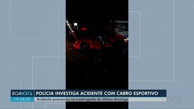 Polícia vai investigar acidente com carro de luxo - Porsche bateu na capital do Estado. Motorista já tinha passagens pela polícia