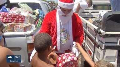 Criançada teve festa com comida e brinquedos em comunidade da Capital - Em Campo Grande.