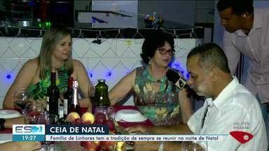 Família de Linhares tem a tradição de sempre se reunir na noite de Natal, no ES - o ES2 acompanhou a preparação da ceia da família.
