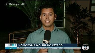 Casal gay diz ter sido expulso de hotel por homofobia em Araguaçu - Casal gay diz ter sido expulso de hotel por homofobia em Araguaçu
