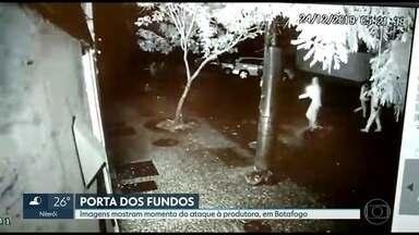 Imagens mostram ataque à produtora do Porta dos Fundos - Polícia já identificou as placas da moto e do carro usados no crime.